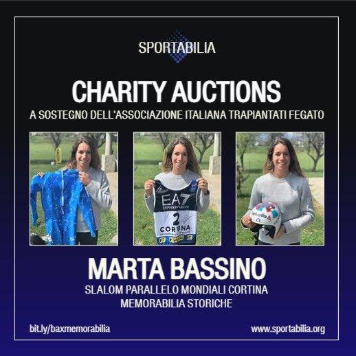 charity auction marta bassino sportabilia